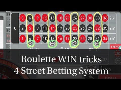 4 Street Betting System Online Casino Casino Game Roulette Wheel Roulette Slot Winning Tricks