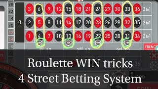 4 Street Betting System Online Casino Casino Game Roulette Wheel Roulette Slot Winning Tricks