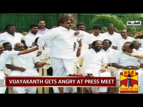vijayakanth spit in press meet on chennai