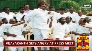 DMDK Chief Vijayakanth Gets Angry at Press  TV