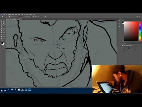Drawing on the Wacom Mobilestudio pro 16