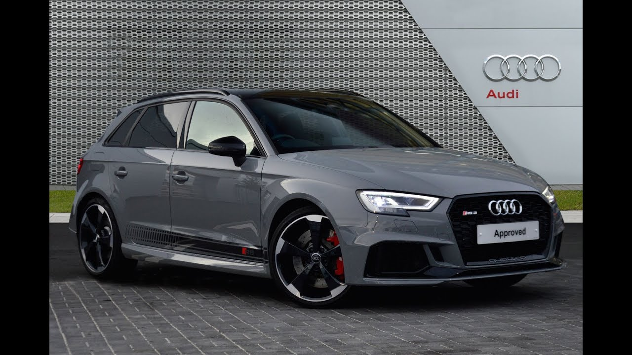 audi a3 rs 3 quattro grey 2017 youtube. Black Bedroom Furniture Sets. Home Design Ideas