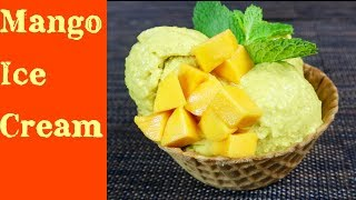 Mango Ice Cream Recipe (Only 4 Ingredients)- Cách Làm Kem Xoài Đơn Giản Mà Ngon