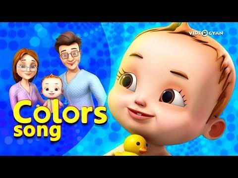 Colors Song With Baby Ronnie | Nursery Rhymes & Kids Songs | Videogyan 3d Rhymes | Bathing Song