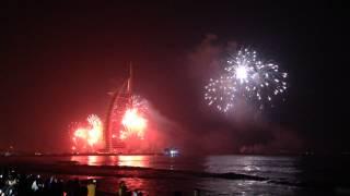 dubai new year fireworks 2015 - burj khalifa firework show 2015 part 2