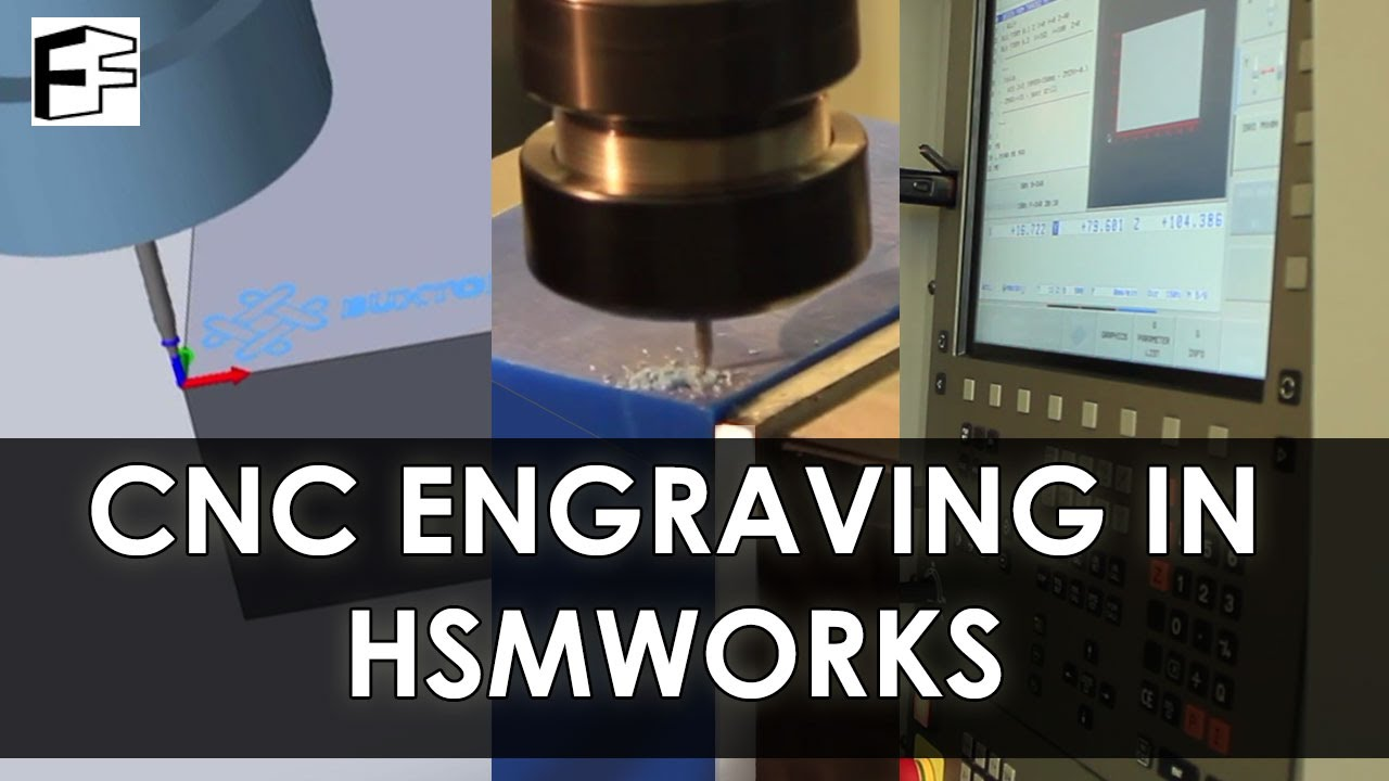 CNC Engraving with HSMWorks Trace #5minFriday - #7 : LightTube