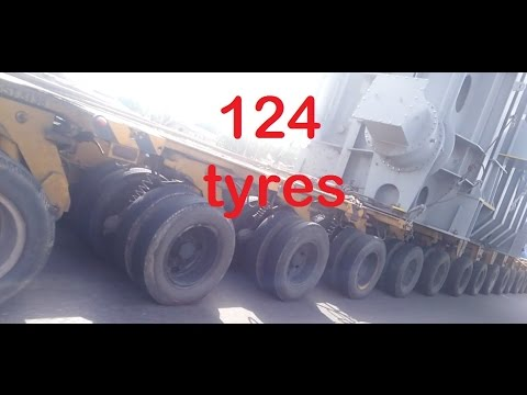 Largest Truck 124 Tires In India Youtube