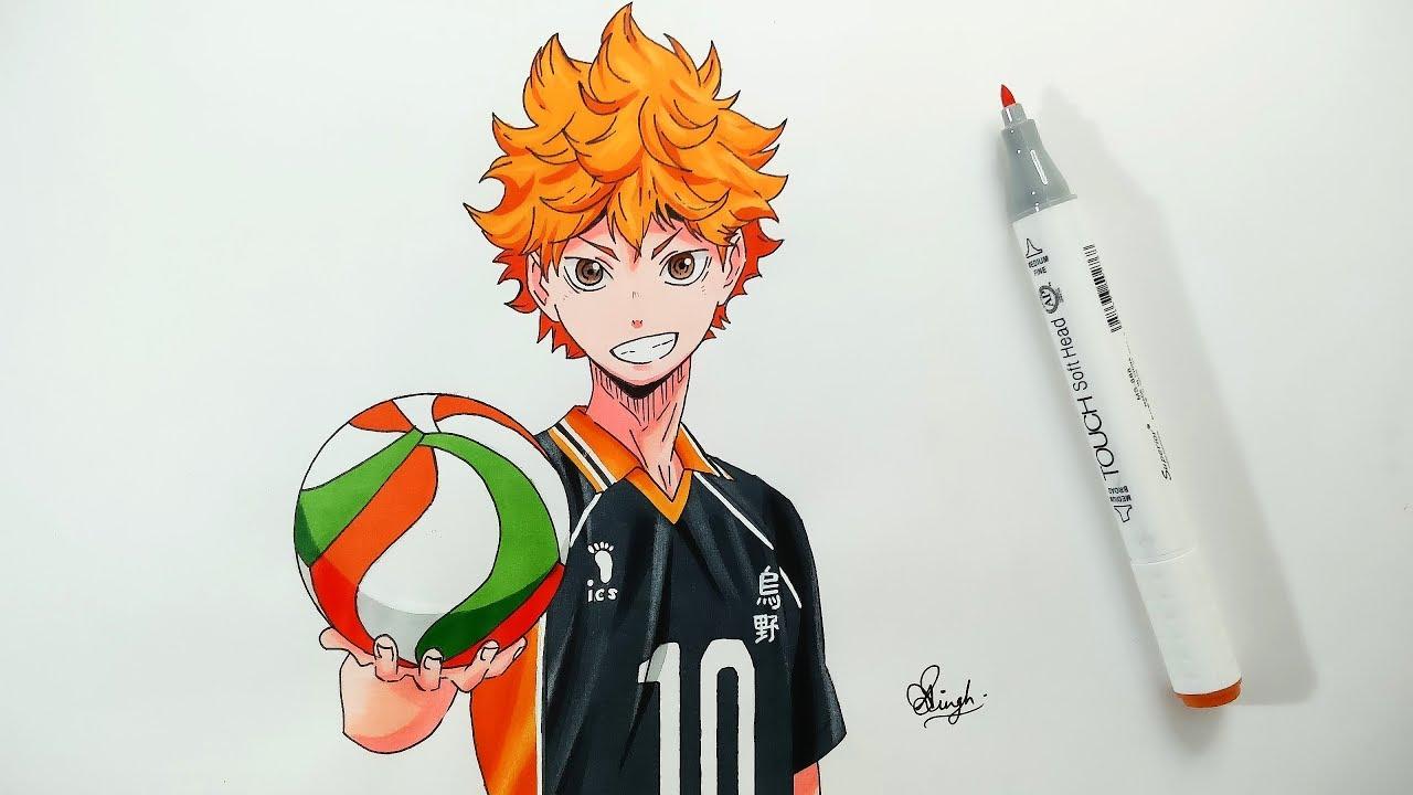 Drawing Hinata Shoyo - Haikyuu - YouTube
