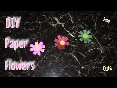 DIY Paper Flowers !! Easy and Cute for Room Decor