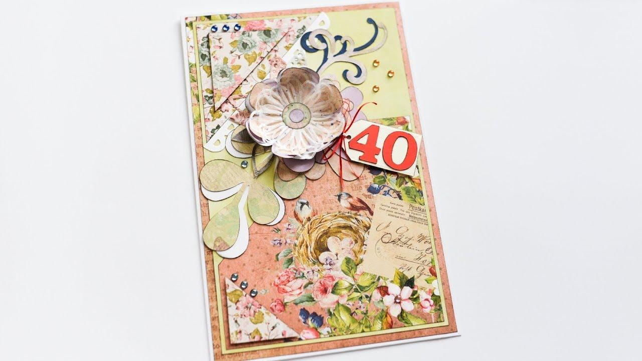 How To Make Birthday Card With A Flower Kartka Urodzinowa Z