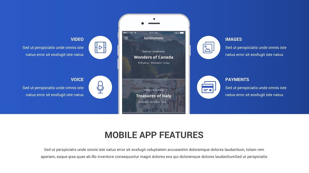 Best Mobile Application Powerpoint Presentation Template Youtube