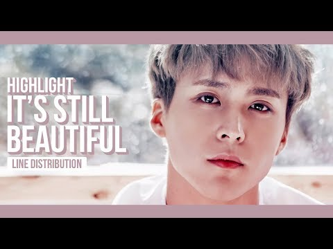 Highlight - It's Still Beautiful Line Distribution (Color Coded)
