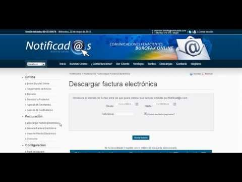 Video tutorial: Descarga de Factura Electrónica de Notificad@s