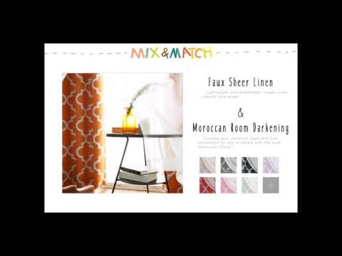Best Home Fashion - Mix and Match Curtains (Faux Sheer Linen Mix and Match Collection)
