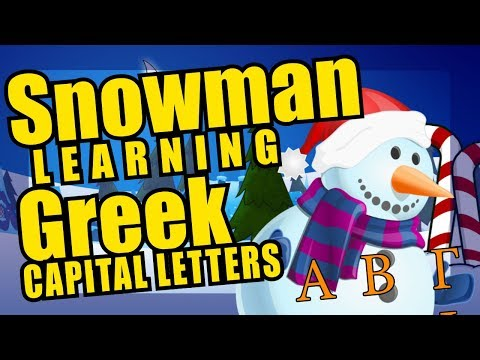 Greek Alphabet Christmas Snowman Parade - Capital Letters