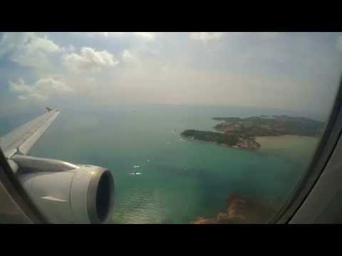 Landing at Samui International Airport (Koh Samui-Thailand)