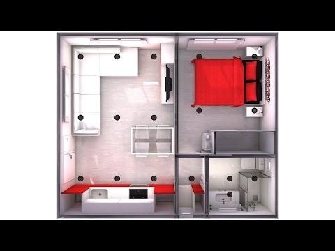 minipiso 30m2 para sergio d az youtube. Black Bedroom Furniture Sets. Home Design Ideas