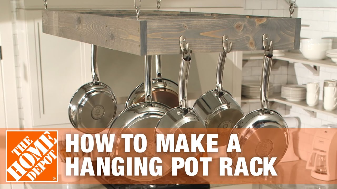 Pot Racks For Kitchen Aluminum Cabinets How To Make A Hanging Rack Youtube