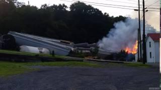 CSX Derailment And Fire Aug 2, 2017
