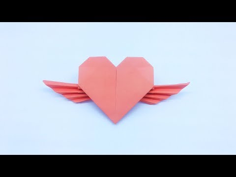 Valentine's Day Origami Flying Heart Paper-Valentine's Day ideas~How to make origami Flying Heart