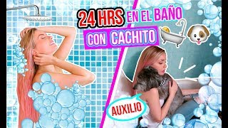 24 HORAS en el BAÑO con CACHITO! 🚽 | Katie Angel