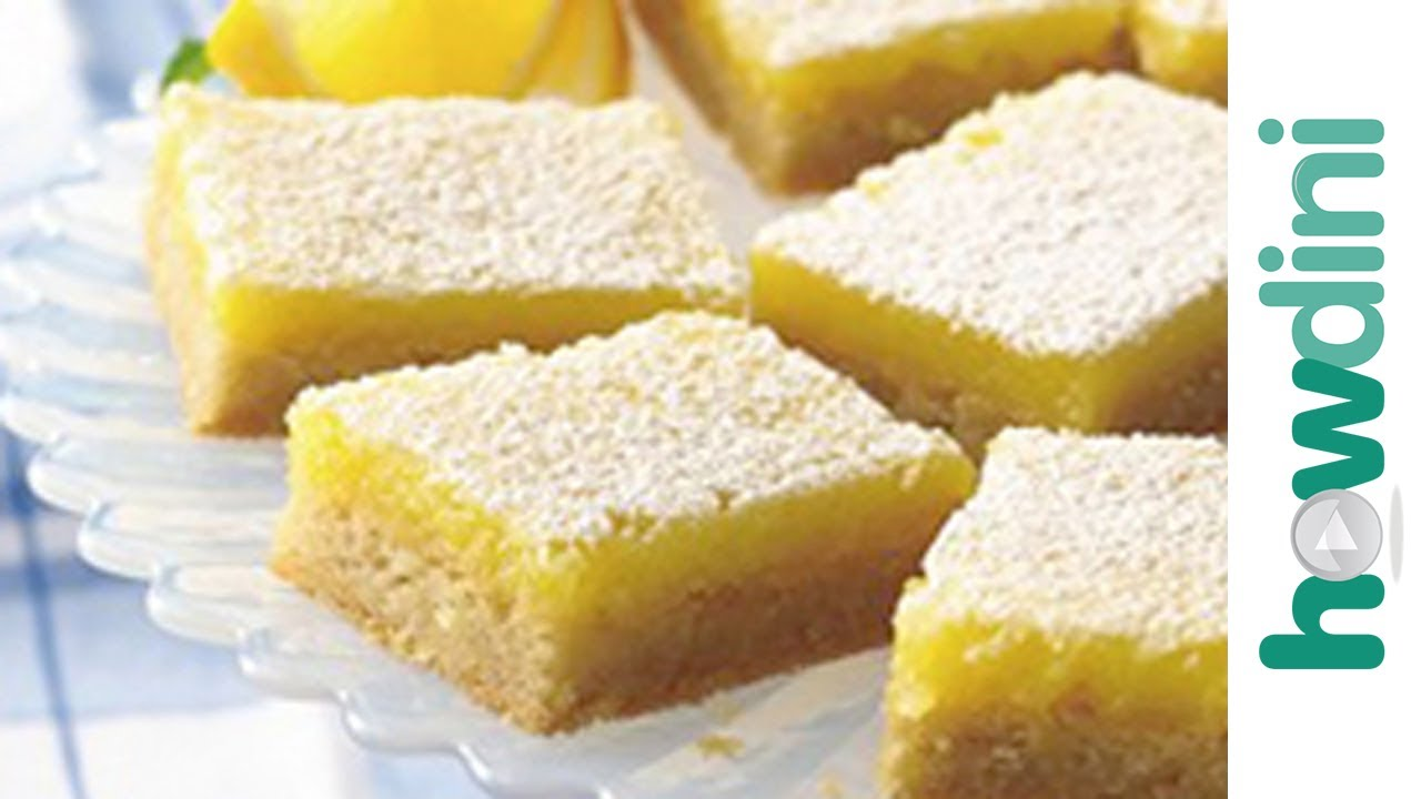 How to make lemon bars - An easy recipe - YouTube