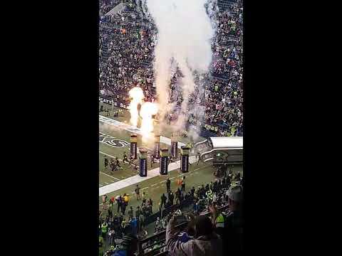 Seattle Seahawks introduction at Century link stadium 2017