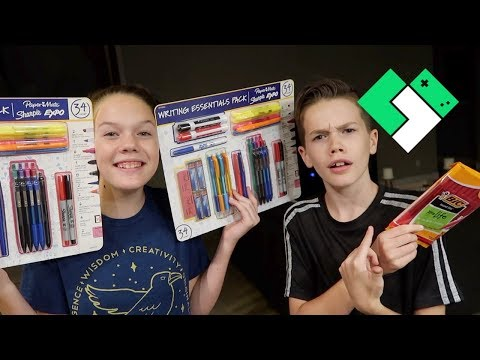 Back to School Supply Shopping and Haul! | Clintus.tv