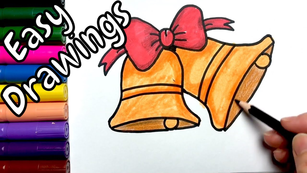 Easy Drawings | How to Draw Christmas Bells | Color and Draw Step by Step - YouTube