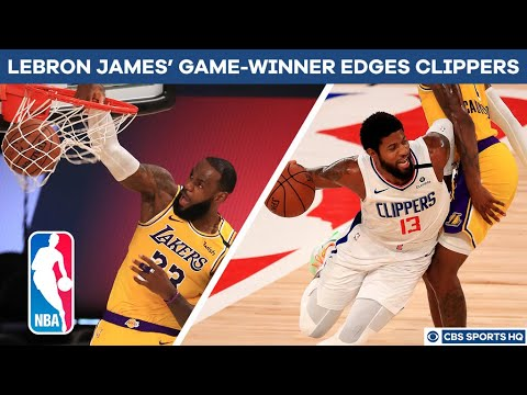 NBA Recap: LeBron James hits game-winning bucket, Lakers edge Clippers | CBS Sports HQ