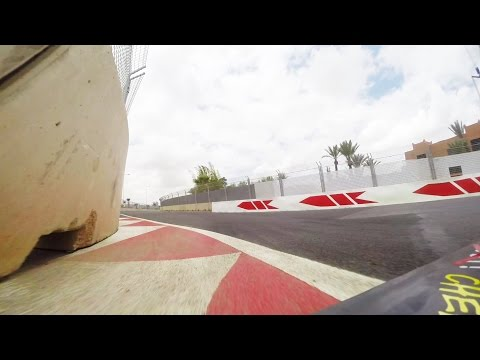 Onboardlap Marrakech street circuit, Tom Coronel DHL, FIA WTCC 2016 and city intro Morocco wtcr