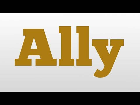Ally Meaning And Pronunciation