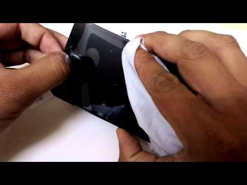 [Hindi Tutorial] How to put screen Guard on Mobile Phone.