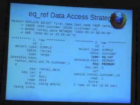 MySQL Query Optimization with EXPLAIN by Sheeri Cabral of Mozilla