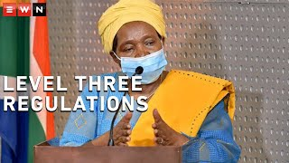 Cooperative Governance Minister Nkosazana Dlamini-Zuma on 12 January 2021 reiterated what the level three lockdown regulations are, pleading with South Africans to obey the rules in order to slow down the spread of Covid-19. Dlamini-Zuma said these regulations will be revisited once the peak has passed and the number of infections have declined.