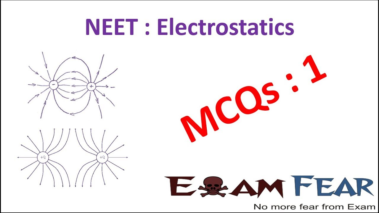 NEET Physics Electrostatics : Multiple Choice Previous Years Questions MCQs  1