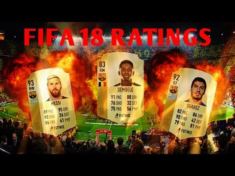 FIFA 18 FC BARCELONA RATINGS REVIEW   PART 1