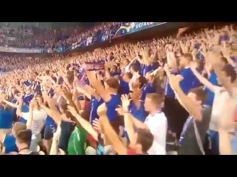 AMAZING  Iceland Team Celebrate With Iceland Fans   Iceland 2 England 1 1