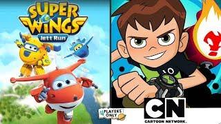 Super Wings : Jett Run VS Ben 10: Up to Speed | PART 2