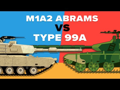 US M1 Abrams vs Chinese Type 99 - Tank Battle (Military Comparison)