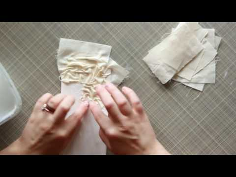 Using Fabric in Mixed Media Project