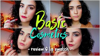 J&S | BASIC COSMETICS 💄 review & lip swatch 💋