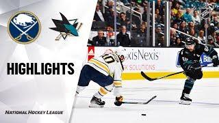 NHL Highlights | Sabres @ Sharks 10/19/19