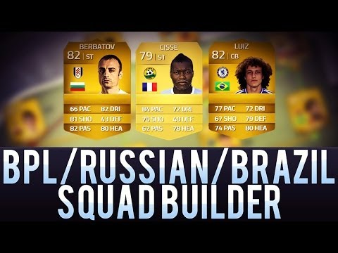 NEXT GEN FIFA 14 | SQUAD BUILDER! BEAST Bulgaria BPL & Russian league ft BERBATOV Cisse IF Popov