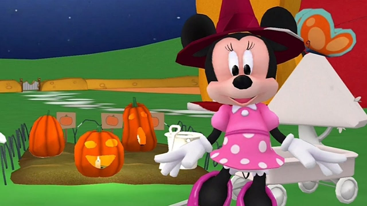 minnie mouse halloween at the mickey mouse clubhouse app for kids youtube - Mickey Minnie Halloween