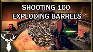 Shooting 100 Exploding Barrels in Destiny
