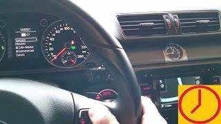 VW Passat Uhrzeit Uhr einstellen Sommerzeit Winterzeit umstellen stellen Anleitung