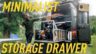 MINIMALIST VANLIFE STORAGE DRAWER for ELECTRIC BIKE & TOOLS