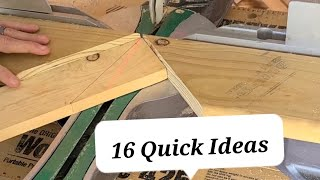 16 Awesome Woodworking & Construction Ideas