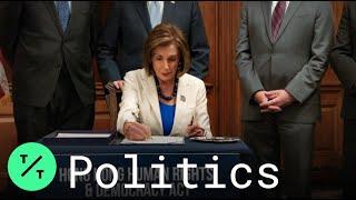 Pelosi Signs Hong Kong Bill, Slams China's 'Damaged' World Standing
